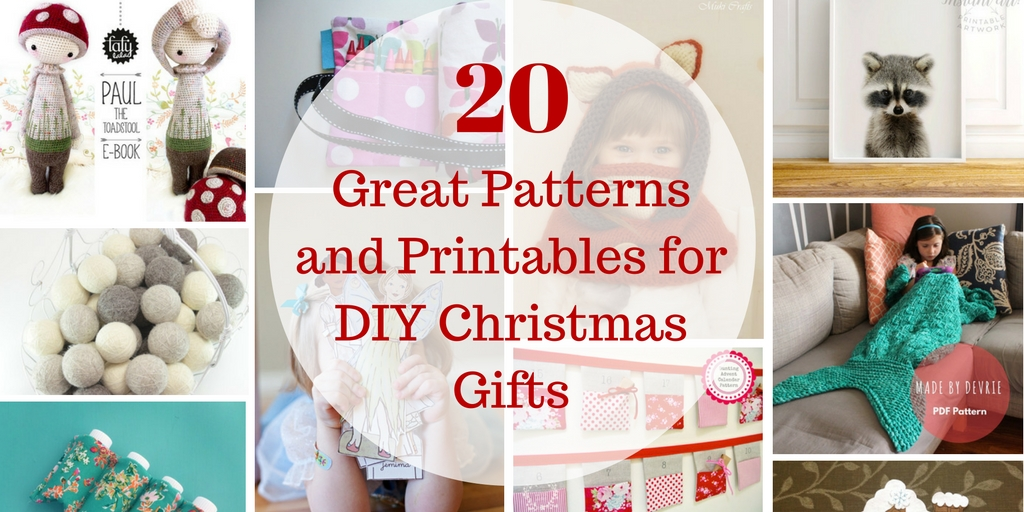 20 Great Patterns and Printables for DIY Christmas Gifts - Unhurried ...
